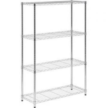 Rolling NSF 4 Tier Chrome Steel Commercial Restaurant Kitchen Food Storage Wire Shelving Rack Factory